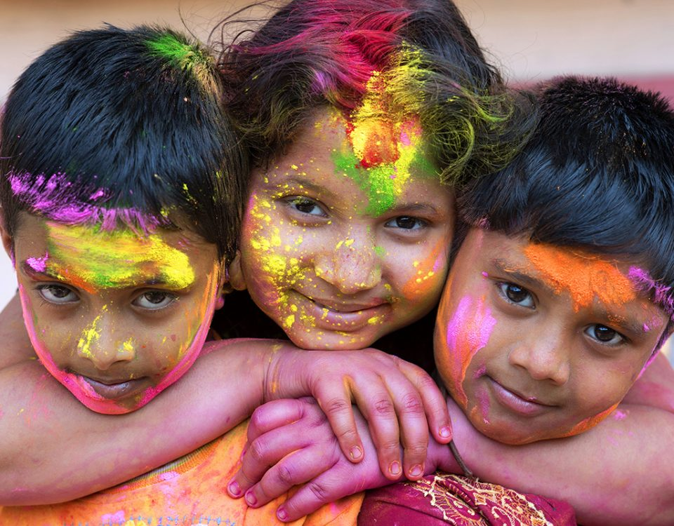 Holi Children : Credit to Photoburst