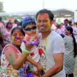 Holi Family : Credit to Rang De Holi