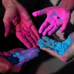 Holi Hands : Credit to Ghazalikori