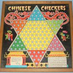 VINTAGE_TRANSOGRAM_TOYS_AND_GAMES_CHINESE_CHECKERS_BOARD_WOOD_FRAME_DRAGON_LITHOGRAPH